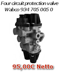 Four circuit protection valve Wabco 934 705 005 0