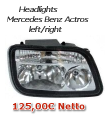 Headlights Mercedes Benz Actros